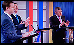 The First Television Election Debate, Nick Clegg, David Cameron, Gordon Brown, April 15th 2010.