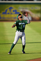 Daytona Tortugas third baseman Reyny Reyes (29) catches a popup during a game against the Bradenton Marauders on June 12, 2021 at LECOM Park in Bradenton, Florida.  (Mike Janes/Four Seam Images)