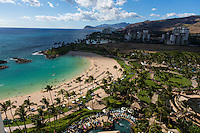 A view of the beaches and resort at Ko Olina Resort, West O'ahu.
