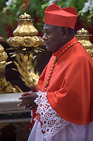 cardinal, archbishop of Port Moresby in Papua New Guinea, John Ribat, i,  Pope Francis, during a consistory at Peter's basilica. Pope Francis has named 17 new cardinals, on November 19, 2016