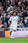 Marcelo Vieira Da Silva of Real Madrid in action during the La Liga 2017-18 match between Real Madrid and Athletic Club Bilbao at Estadio Santiago Bernabeu on April 18 2018 in Madrid, Spain. Photo by Diego Souto / Power Sport Images