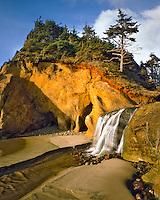 Hug Point Falls in Clatsop County, Oregon