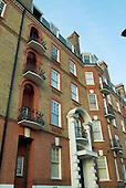 Mansion block of flats in West Hampstead, London.