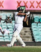 10th January 2021; Sydney Cricket Ground, Sydney, New South Wales, Australia; International Test Cricket, Third Test Day Four, Australia versus India; Rohit Sharma of India plays a hook shot
