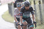 Peter Sagan (SVK) Bora-Hansgrohe and British Champion Ben Swift (GBR) Ineos Grenadiers escape from the breakaway group during Stage 10 of the 103rd edition of the Giro d'Italia 2020 running 177km from Lanciano to Tortoreto, Italy. 13th October 2020.  <br /> Picture: Luca Bettini/BettiniPhoto | Cyclefile<br /> <br /> All photos usage must carry mandatory copyright credit (© Cyclefile | Luca Bettini/BettiniPhoto)