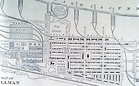 Utopia:  Pullman IL map 1885.  REPS., MAKING OF URBAN AMERICA, fig. 250.
