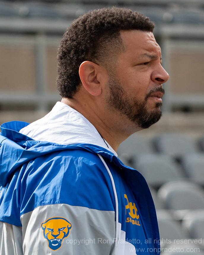 Pitt basketball head coach Jeff Capel attends the game. The Pitt Panthers defeated the New Hampshire Wildcats 77-7 at Heinz Field, Pittsburgh, Pennsylvania on September 25, 2021.