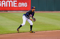 Cedar Rapids Kernels infielder Royce Lewis (30) during a Midwest League game against the Kane County Cougars on April 21, 2018 at Perfect Game Field at Veterans Memorial Stadium in Cedar Rapids, Iowa. Kane County defeated Cedar Rapids 9-2. (Brad Krause/Four Seam Images)