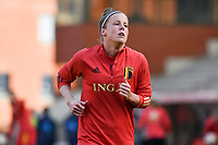 Laura Deloose (22) of Belgium pictured during a Womens International Friendly game between Belgium , called the Red Flames and Norway at Koning Boudewijnstadion in Brussels , Belgium. Photo Sportpix.be / SPP