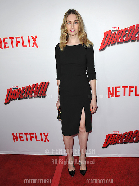 """Jamie Clayton at the premiere of Netflix series """"Marvel's Daredevil"""" at the Regal Cinemas LA Live.<br /> April 2, 2015  Los Angeles, CA<br /> Picture: Paul Smith / Featureflash"""