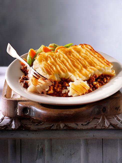 """Britsh Food - Shepherd""""s Pie meal"""