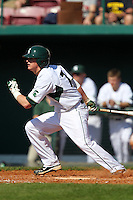 Third baseman Torsten Boss #7 of the Michigan State Spartans during the Big East-Big Ten Challenge vs. the Seton Hall Pirates at Al Lang Field in St. Petersburg, Florida;  February 19, 2011.  Michigan State defeated Seton Hall 5-4.  Photo By Mike Janes/Four Seam Images