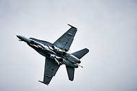 RCAF Cf-18 Hornet in an air show, Sept 2019<br /> <br /> <br /> PHOTO : Agence Quebec Presse - Pierre Tran