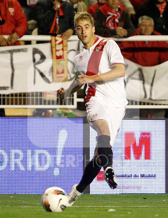 Rayo Vallecano's Jorge Pulido during La Liga match.March 17,2012. (ALTERPHOTOS/Acero)