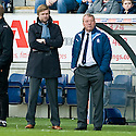 30/10/2010   Copyright  Pic : James Stewart.sct_jsp026_falkirk_v_dundee  .:: FALKIRK MANAGER STEVEN PRESSLEY AND ASSISTANT ALEX SMITH :: .James Stewart Photography 19 Carronlea Drive, Falkirk. FK2 8DN      Vat Reg No. 607 6932 25.Telephone      : +44 (0)1324 570291 .Mobile              : +44 (0)7721 416997.E-mail  :  jim@jspa.co.uk.If you require further information then contact Jim Stewart on any of the numbers above.........