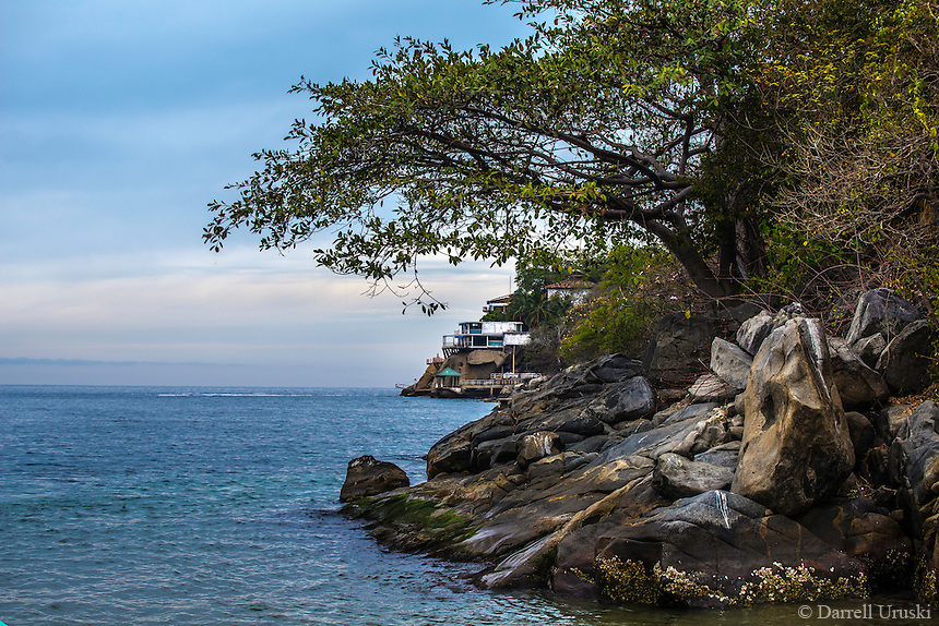 Fine Art Landscape Photograph of Boca Bay, a picturesque ocean inlet to a small fishing village called Boca de Tomatlán which is located on the Pacfic ocean side of the Mexican shoreline.