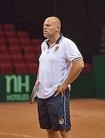 09-09-13,Netherlands, Groningen,  Martini Plaza, Tennis, DavisCup Netherlands-Austria, DavisCup,  coach Raymond Knaap(NED)<br /> Photo: Henk Koster