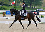 April 23, 2021: #52 Business Ben and rider Allison Springer from the USA in the 5* Dressage  at the Land Rover Three Day Event at the Kentucky Horse Park in Lexington, KY on April 23, 2021.  Candice Chavez/ESW/CSM