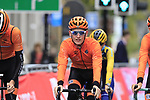 Team Netherlands takes advantage of free practice on the Harrogate Circuit before the Men Elite Individual Time Trial of the UCI World Championships 2019 running 54km from Northallerton to Harrogate, England. 25th September 2019.<br /> Picture: Eoin Clarke | Cyclefile<br /> <br /> All photos usage must carry mandatory copyright credit (© Cyclefile | Eoin Clarke)