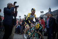 Laurens ten Dam (NLD/LottoNL-Jumbo) all smiles to sign-in<br /> <br /> 101th Liège-Bastogne-Liège 2015