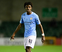 Manchester City U21's Romeo Lavia<br /> <br /> Photographer Chris Vaughan/CameraSport<br /> <br /> EFL Papa John's Trophy - Northern Section - Group E - Lincoln City v Manchester City U21 - Tuesday 17th November 2020 - LNER Stadium - Lincoln<br />  <br /> World Copyright © 2020 CameraSport. All rights reserved. 43 Linden Ave. Countesthorpe. Leicester. England. LE8 5PG - Tel: +44 (0) 116 277 4147 - admin@camerasport.com - www.camerasport.com