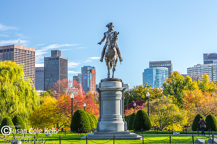 The George Washington statue by Thomas Ball (public domain) in the Boston Public Garden, Boston, Massachusetts, USA