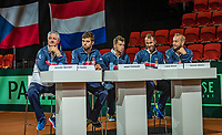The Hague, The Netherlands, September 13, 2017,  Sportcampus , Davis Cup Netherlands - Chech Republic, Draw, Chech Team<br /> Photo: Tennisimages/Henk Koster