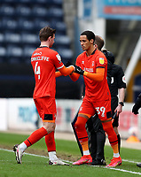 20th March 2021; Deepdale Stadium, Preston, Lancashire, England; English Football League Championship Football, Preston North End versus Luton Town; Ryan Tunnicliffe of Luton Town is replaced by substitute Thomas Ince of Luton Town