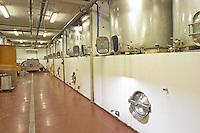 Domaine de Canet-Valette Cessenon-sur-Orb St Chinian. Languedoc. Stainless steel fermentation and storage tanks. Concrete fermentation and storage vats. France. Europe.