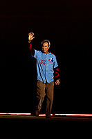 25 March 2019: Former Montreal Expo pitcher Dennis Martinez is introduced during the pre-game ceremonies commemorating the 50-year anniversary of the Expos prior to an exhibition game between the Toronto Blue Jays and the Milwaukee Brewers at Olympic Stadium in Montreal, Quebec, Canada. The Brewers defeated the Blue Jays 10-5 in the first of two MLB pre-season games in the former home of the Montreal Expos. Mandatory Credit: Ed Wolfstein Photo *** RAW (NEF) Image File Available ***