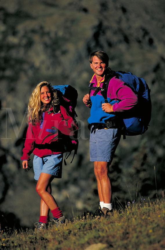 Kristy (MR239) & Arlynn Peters (MR288) backpacking, Summit County, CO. Kristy (MR239) & Arlynn Peters (MR288). Summit County, Colorado.