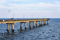 Fishing pier at the Chesapeake Bay Bridge, Virginia, USA