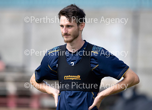 St Johnstone Training….23.07.18<br />Scott Tanser pictured during training at McDiarmid Park<br />Picture by Graeme Hart.<br />Copyright Perthshire Picture Agency<br />Tel: 01738 623350  Mobile: 07990 594431