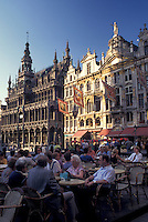 outdoor café, Grand Place, Brussels, Bruxelles, Belgium, Europe, Outdoor café in Grand-Place (Grote Markt) in downtown Brussels.