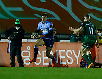 20th February 2021; Galway Sportsgrounds, Galway, Connacht, Ireland; Guinness Pro 14 Rugby, Connacht versus Cardiff Blues; Max Llewellyn on an attacking run for Cardiff Blues
