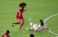 Carson, CA - Thursday August 03, 2017: Christen Press during a 2017 Tournament of Nations match between the women's national teams of the United States (USA) and Japan (JAP) at StubHub Center.