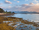 County Galway, Ireland:<br /> View of the mountainous Connemara from Roundstone harbor at low tide