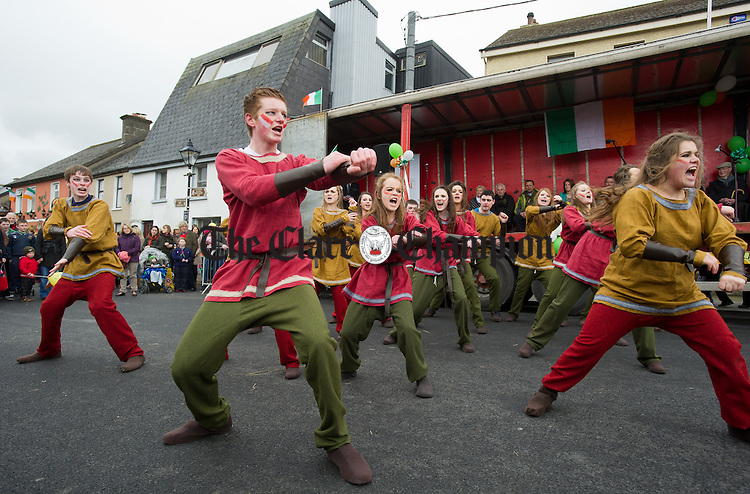 Members of the Kincora Call group in action during the St Patrick's Day Parade at Killaloe. Photograph by John Kelly.