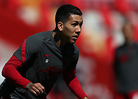 24th April 2021; Anfield, Liverpool, Merseyside, England; English Premier League Football, Liverpool versus Newcastle United; Roberto Firmino of Liverpool during the pre match warm up