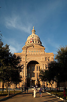 """The Texas State Capitol was ranked ninety-second in the """"America's Favorite Architecture"""" poll commissioned by the American Institute of Architects, that ranked the top hundred-and-fifty favorite architectural projects in America as of 2007. In a 2008 poll by the AIA, it was also ranked the number-one state capitol."""