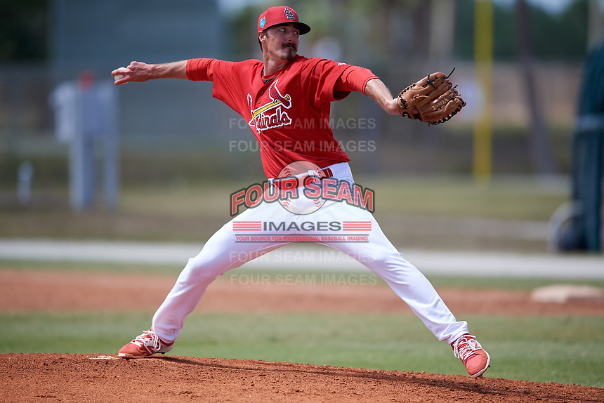 St. Louis Cardinals pitcher Jason Zgardowski (8) during a Minor League Spring Training game against the Houston Astros on March 27, 2018 at the Roger Dean Stadium Complex in Jupiter, Florida.  (Mike Janes/Four Seam Images)