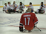 salt lake city.12\03\02.the end of a dream. named outstanding player of the game for canada,forward player jean labonte  realises the weight of this afternoon lost to japan this evening at the e-center.