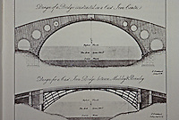 Thomas Farolls Pritchard: Coalbrookdale Iron Bridge--first designs, 1774-75.  Reference only.