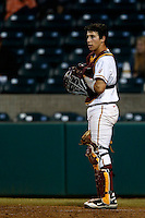 Garrett Stubbs #51 of the USC Trojans during a baseball game against the Oregon Ducks at Dedeaux Field on March 15, 2013 in Los Angeles, California. (Larry Goren/Four Seam Images)