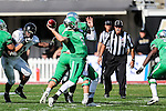North Texas Mean Green quarterback Alec Morris (5) in action during the Zaxby's Heart of Dallas Bowl game between the Army Black Knights and the North Texas Mean Green at the Cotton Bowl Stadium in Dallas, Texas.