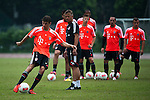 GUANGZHOU, GUANGDONG - JULY 26:  Thomas Muller of Bayern Munich during a training session ahead the friendly match against VfL Wolfsburg as part of the Audi Football Summit 2012 on July 26, 2012 at the Tianhe Sports Stadium in Guangzhou, China. Photo by Victor Fraile / The Power of Sport Images