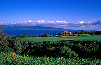 Hole No. 17 of the Kapalua Plantation golf course on Maui