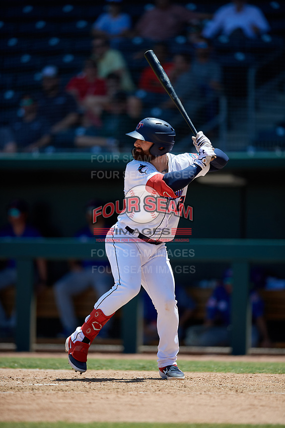 Jacksonville Jumbo Shrimp John Silviano (22) at bat during a Southern League game against the Tennessee Smokies on April 29, 2019 at Baseball Grounds of Jacksonville in Jacksonville, Florida.  Tennessee defeated Jacksonville 4-1.  (Mike Janes/Four Seam Images)