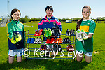 John Mitchels GAA Club launching their boot club where they are asking people to donate their boots that they have outgrown. L to r: Alannah Doody, Tanya O'Connor and Aisling Kelliher.