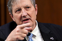 United States Senator John Neely Kennedy (Republican of Louisiana), speaks during the US Senate Judiciary Committee confirmation hearing for Supreme Court nominee Amy Coney Barrett, Thursday, Oct. 15, 2020, on Capitol Hill in Washington. <br /> Credit: Susan Walsh / Pool via CNP /MediaPunch